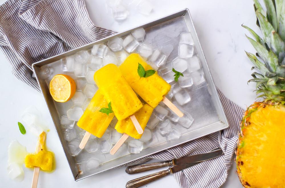 ghiaccioli ananas fatti in casa ricetta facile