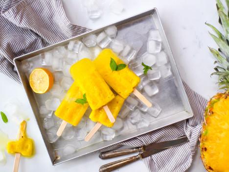 Ghiaccioli all'ananas fatti in casa: ricetta in 1 minuto