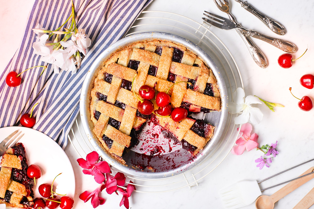 cherry pie torta ciliegie americana ricetta recipe