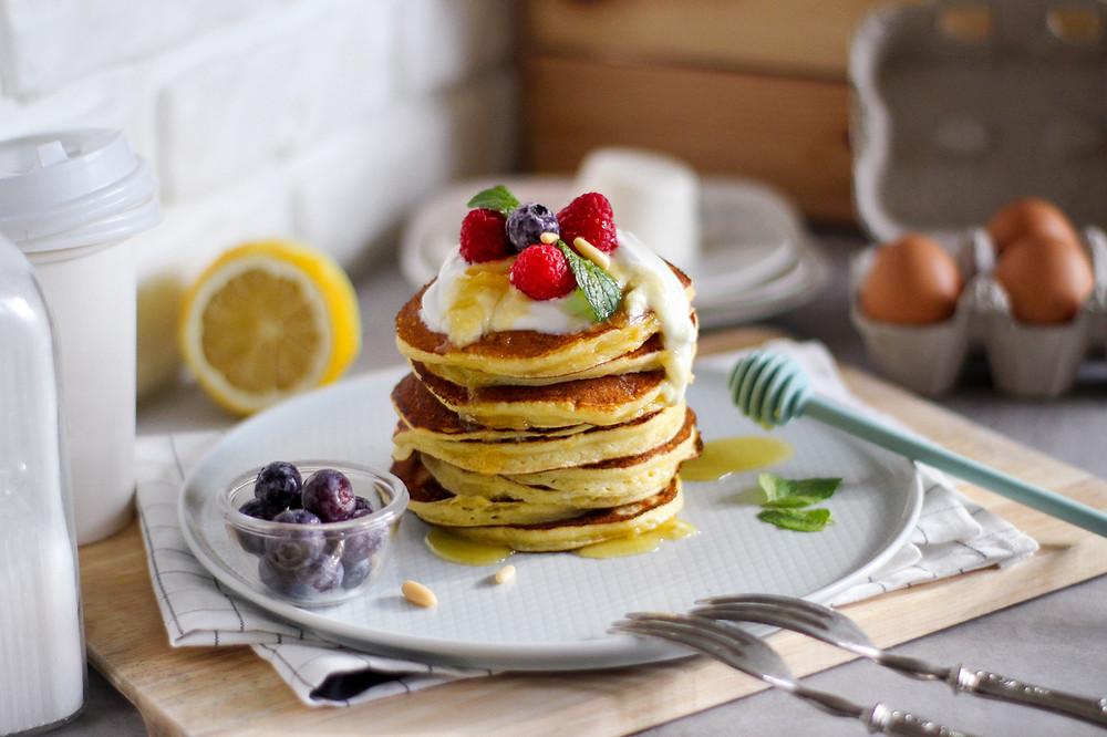 ricetta facile pancake ricotta e limone