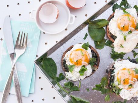 Portobello eggs: la ricetta facile dei funghi da brunch