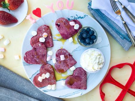 Pancake alla barbabietola: la ricetta facile per San Valentino