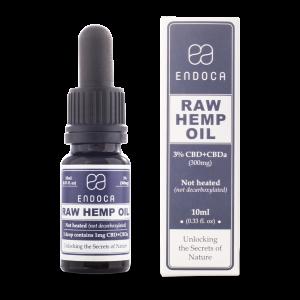 Endoca RAW CBD Hemp Oil Drops 300 mg. (3%) - 10 ml.