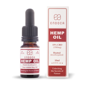 Endoca RAW CBD Hemp Oil Drops 1500 mg. (15%) - 10 ml.