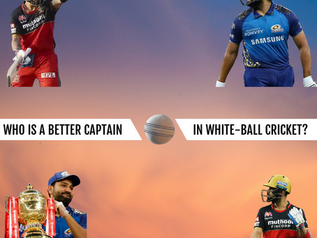 Who is a better captain in white-ball cricket? Kohli or Rohit?