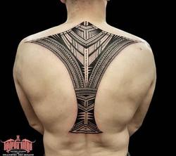 samoan back tattoo