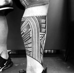 samoan leg tattoo