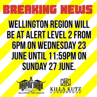 Breaking News - Wellington Covid Level Change