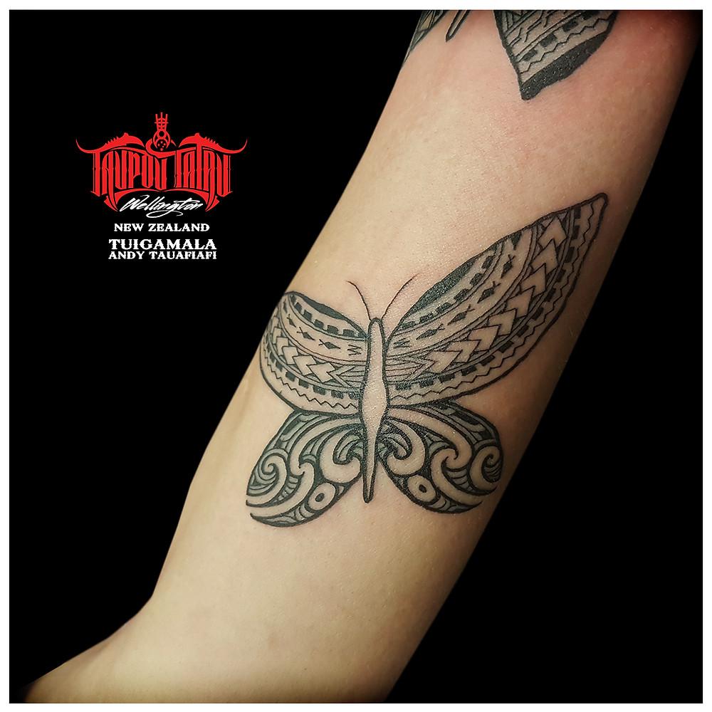 Close up lower, Samoan, Maori butterfly.
