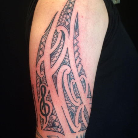 Polynesian tattoo by Jonny
