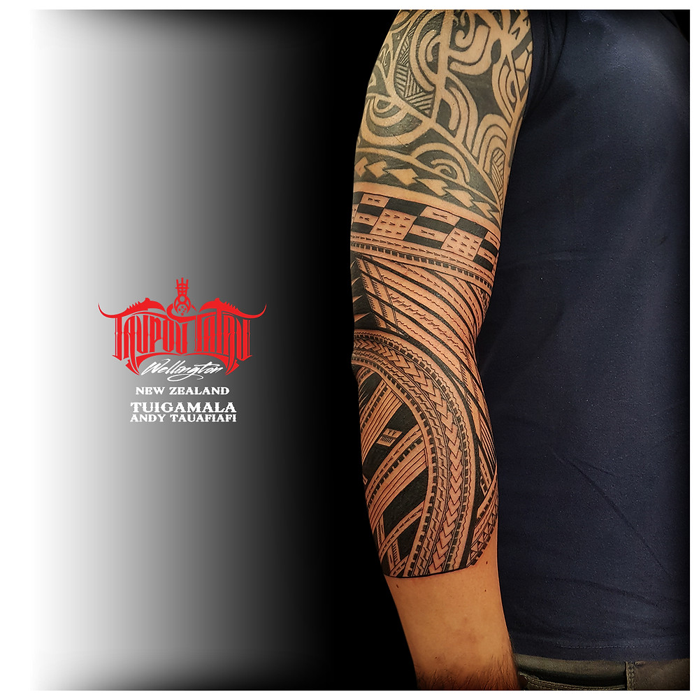 Samoan sleeve tattoo additions