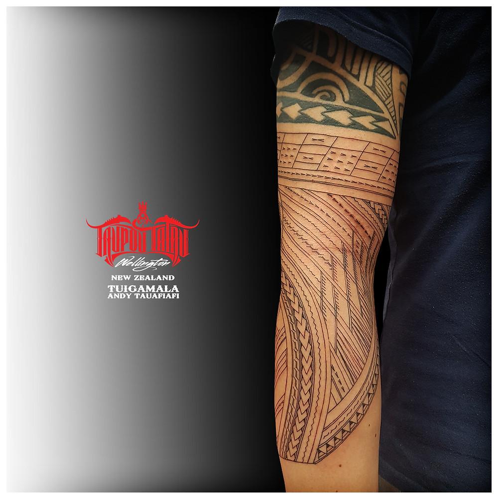 Samoan Sleeve tattoo linework