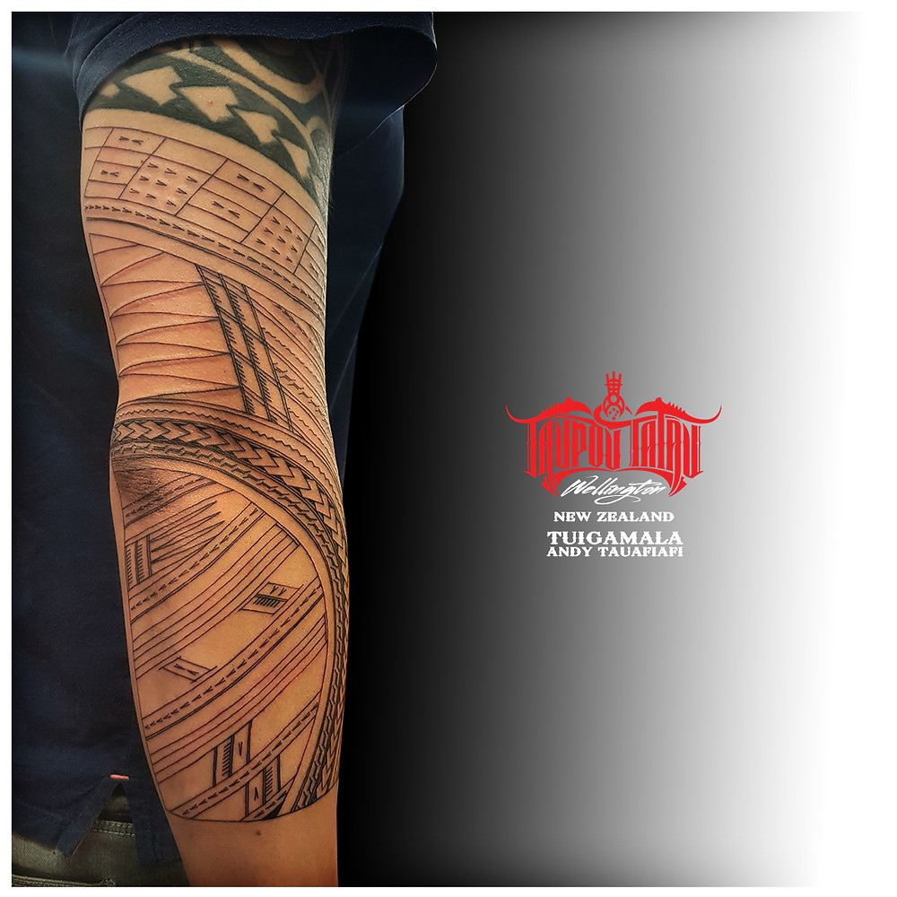 Linework for Samoan freehand sleeve