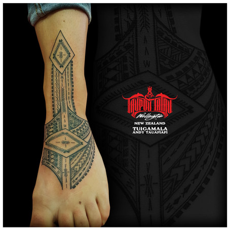 Samoan foot tattoo by Andy
