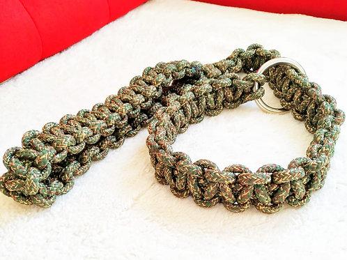 Coleira 2 em 1 de corda artesanal DPK