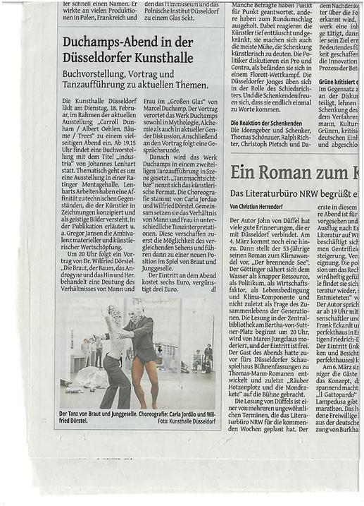 Düsseldorf_Kunsthalle_Zeitungsartikel_K