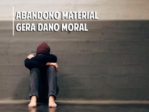 Pai que abandona materialmente o filho pode ser condenado a indenização por danos morais