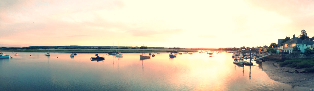 Topsham estuary at sunset