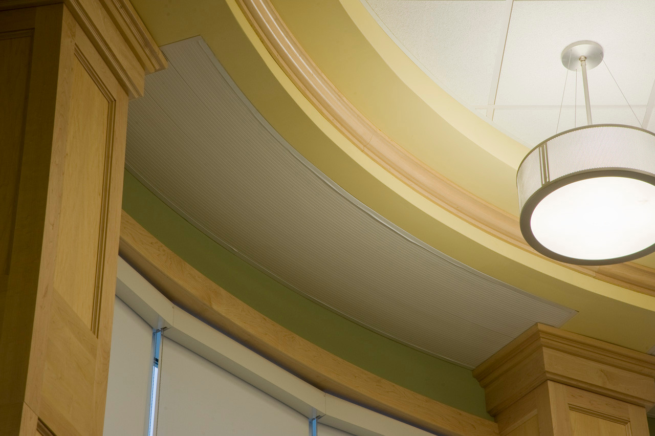 Aerotech, Curved Hydronic Radiant Ceiling Panel Finished Look