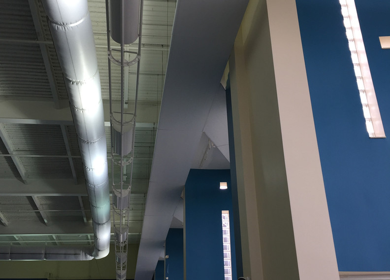 AeroTech, Corner Suspended Hydronic Radiant Ceiling Panel Finished Look