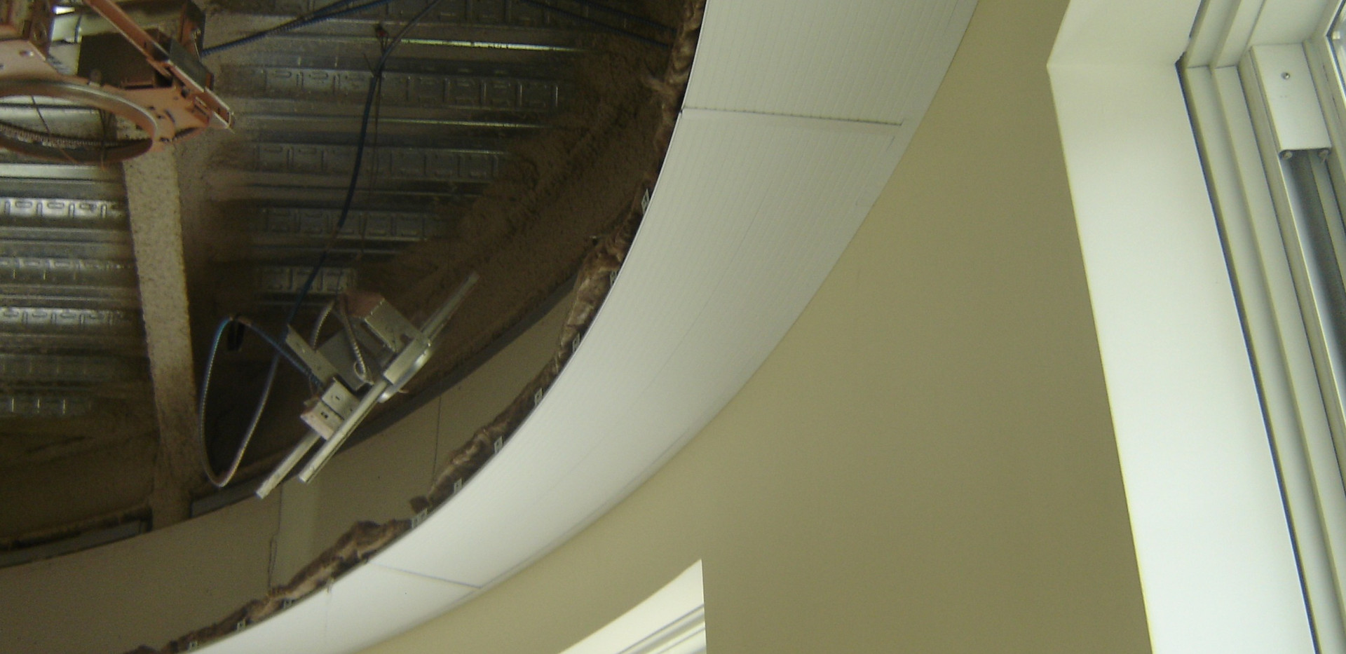 AeroTech, Curved Hydronic Radiant Ceiling Panel during Install