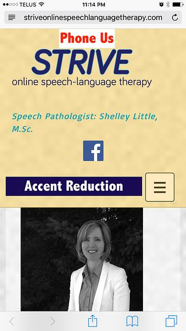 strive online-online-accent-accent reduction-Alberta-SLP