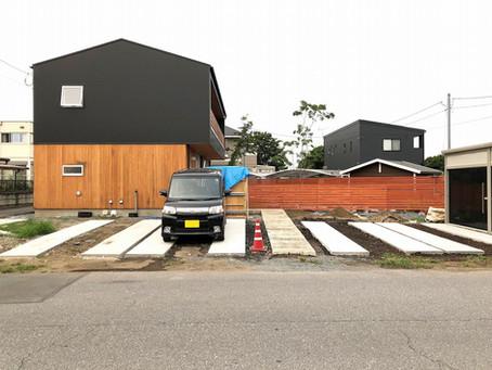 下田原の家「MOYO」作庭・外構工事中。
