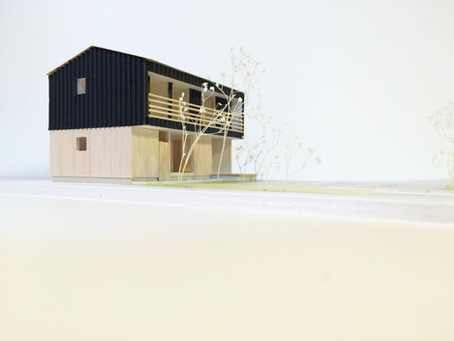 家具と建築と庭と風景。そんなことを考えながら建築模型を作りました!