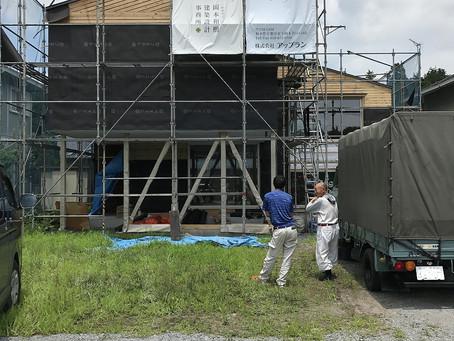 中岡本スキップフロアの家。進捗。