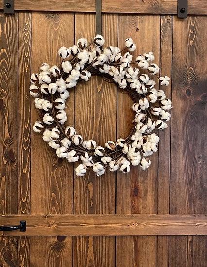 Cotton Boll Wreath