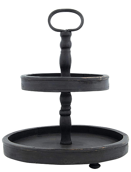 Two-Tiered Tray - Black