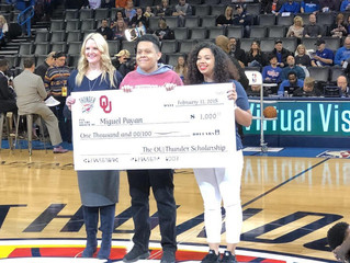 OU/Thunder Scholarship Winner