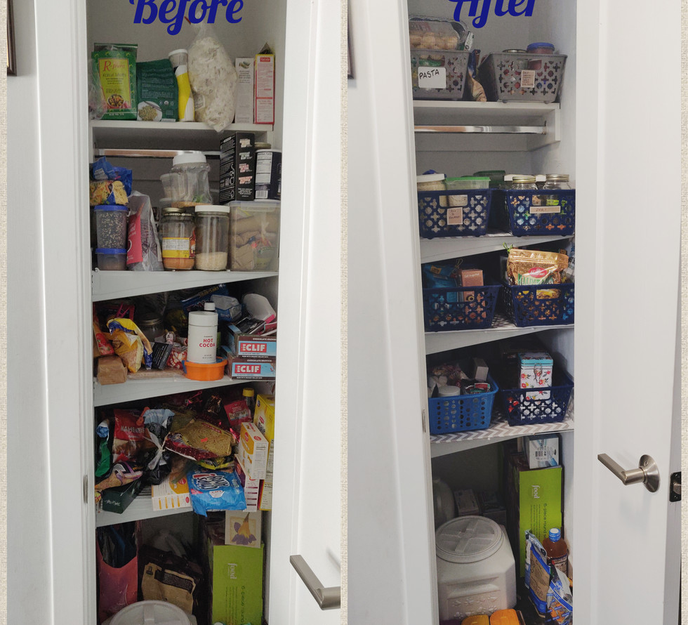 Small Coat Closet converted into a Pantry