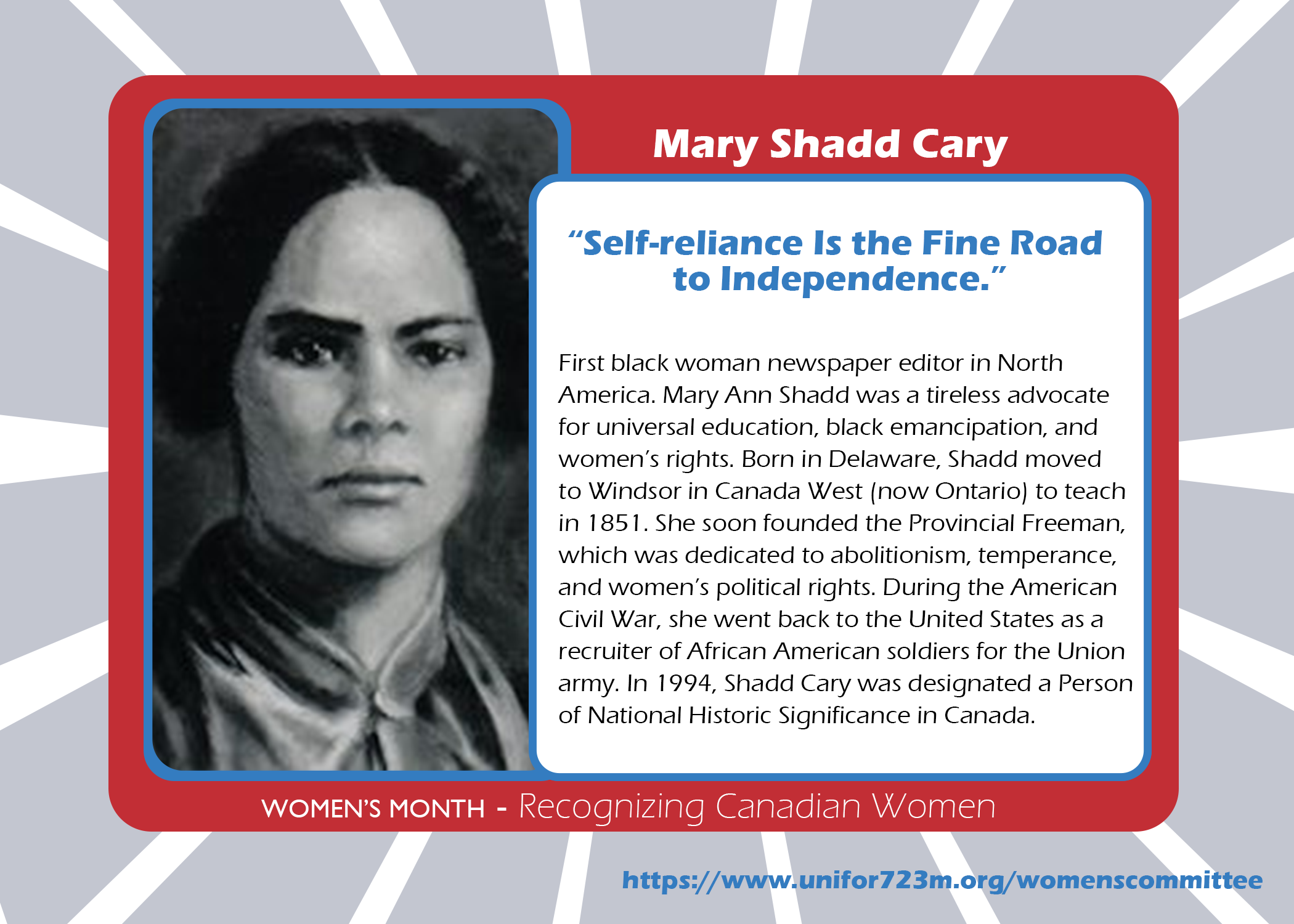 Mary Shadd Cary