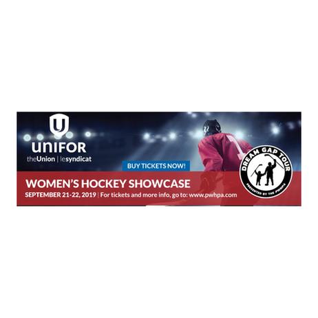 Unifor title sponsor of Women's Hockey Dream Gap Tournament