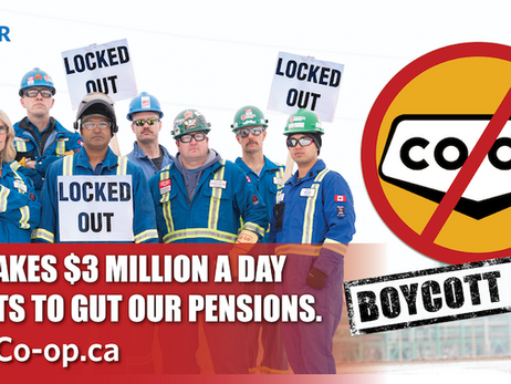 Boycott Co-op and help locked out refinery workers