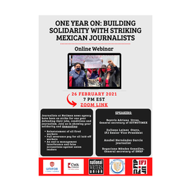 Solidarity with Mexican Journalists