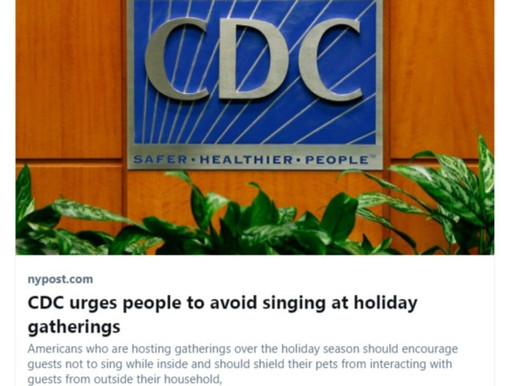 """DO NOT ENGAGE IN SINGING CHRISTMAS SONGS AT GATHERINGS."" ~CDC"
