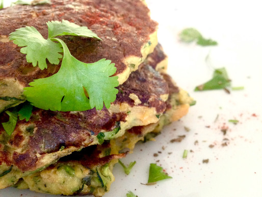Plant-based Veggie Fritters with Chickpea Flour (Recipe)