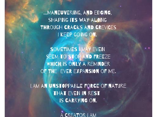 10.02.2019 Mantra: I Am an Artist, a Creator.