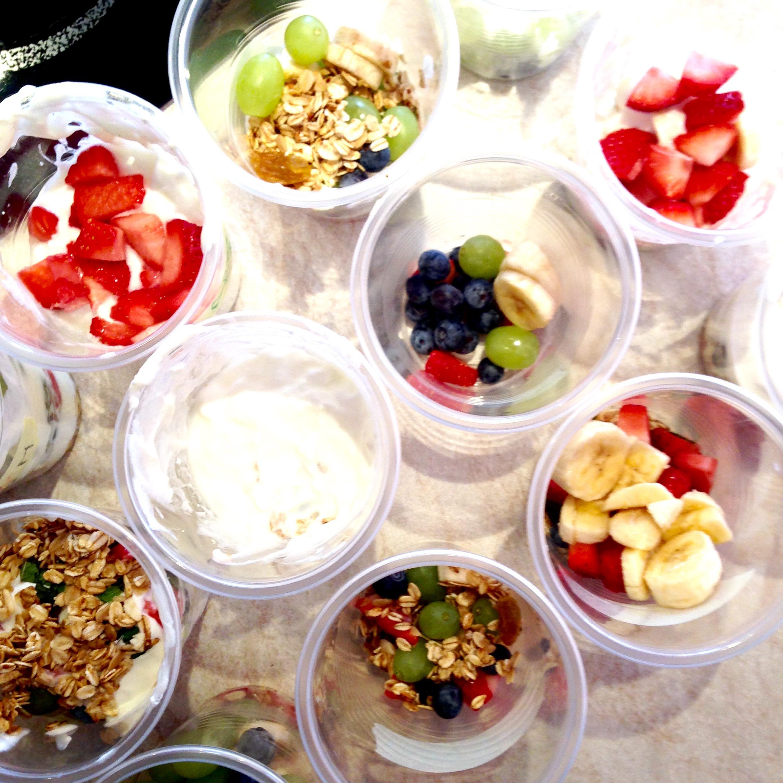 Finished Fruit Parfait's