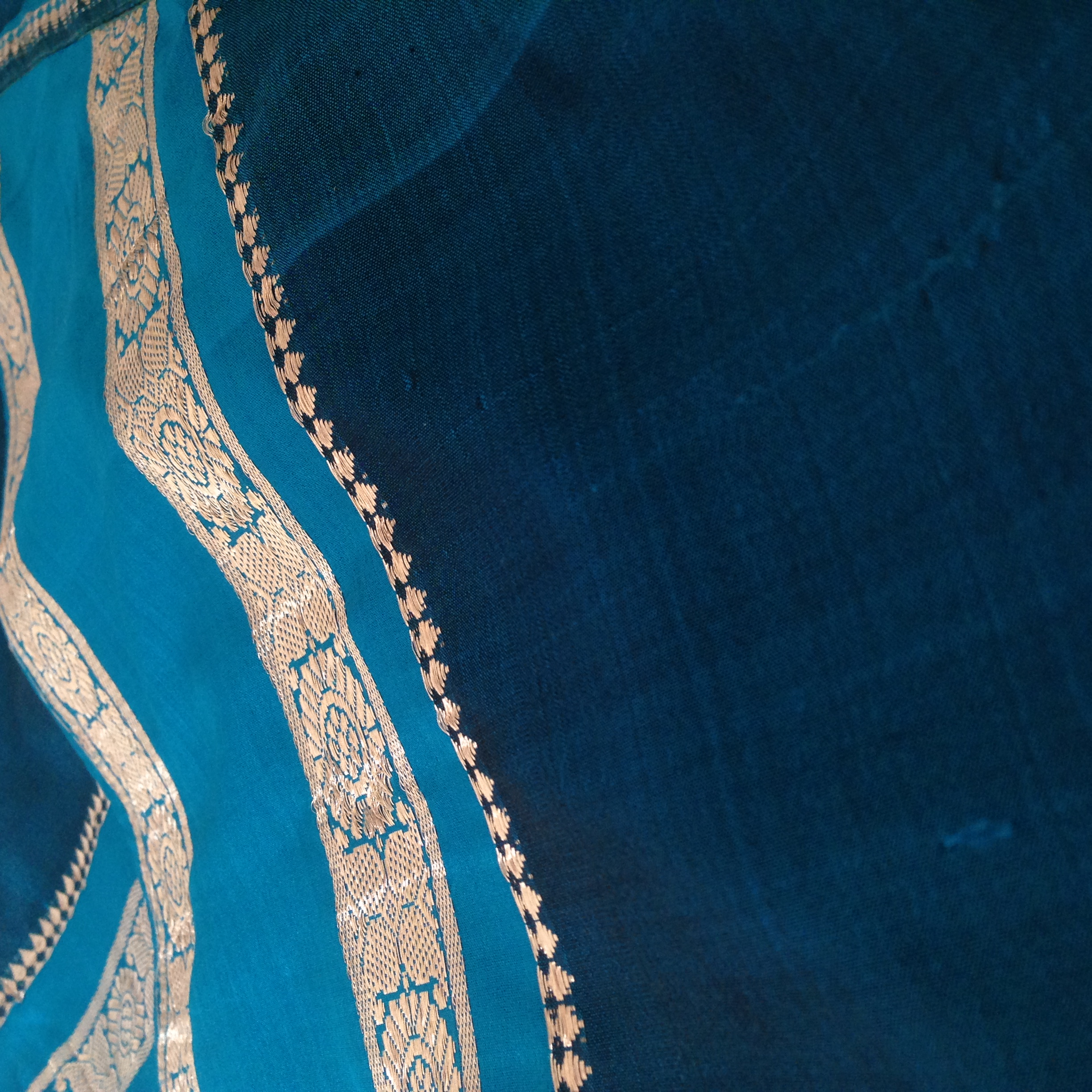 Old Saree Silk turned into a Lengha
