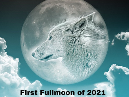 The Full Wolf Moon & The Great Spirit Moon...
