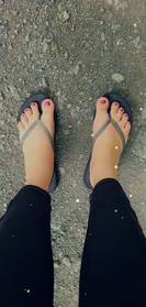 Ava Fox 301 & Dana Gaulin Writes feet on the back road.jpg
