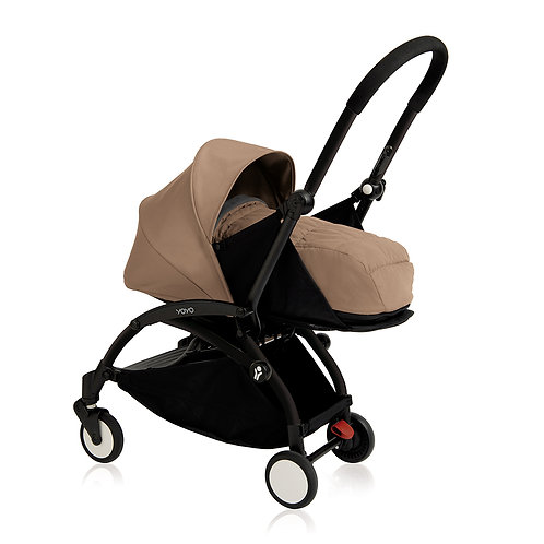 YOYO+ estructura negra + newborn pack taupe
