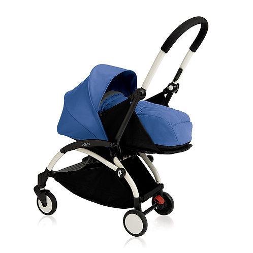 YOYO+ estructura blanca + newborn pack azul