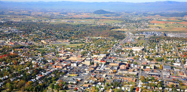 Aerial Photo of City of Harrisonburg, VA