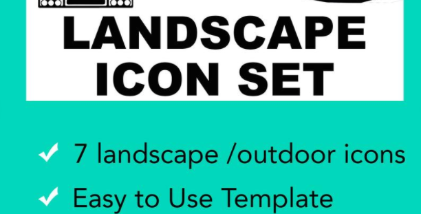 Landscape & Outdoor Structure Vector Illustrator Icon Set
