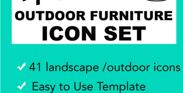 Landscape & Outdoor Structure Vector Illustrator Icon Set