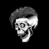 skull with cool hair
